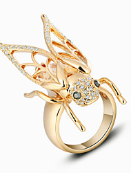 Fashion Animal Insect Alloy Unisex Ring Trendy Jewelry 18k Gold Plated Rings For Party