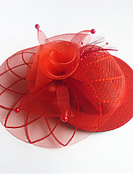 Femme Tulle Tissu Casque-Mariage Occasion spéciale Coiffure 1 Pièce