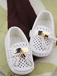 Boy's Boat Shoes Spring Fall PU Outdoor Tassel Black White