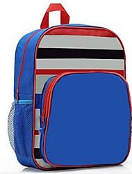 Unisex Nylon Casual Backpack Blue / Fuchsia