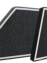 ar condicionado filtro de filtro de efeito duplo automotivo de filtro de carvão ativado, umidade, odor