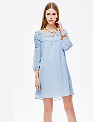 Heart Soul® Women's Round Neck 3/4 Length Sleeve Knee-length Dress-11AA11204R