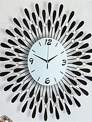 Modern Style Fashion Creative Tuba Diamond With Iron Mute Wall Clock