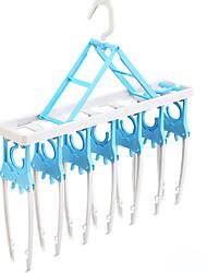 1PC 51.5*8.2CM Plastic Multi-Purpose Clotheshorse Household Plastic Hangers