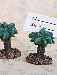 Hawaii Beach Palm Tree Place Card Holder Beter Gifts® Table Decoration (4pcs/Set)