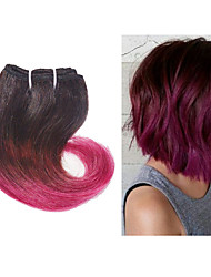 Ombre Hair Extension #1B/Burg Short Body Wave Human Hair Extension Ombre Color Hair Extension