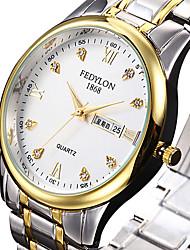 Women's Dress Watch Calendar Quartz Stainless Steel Band Cool Luxury Silver