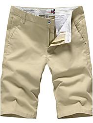 Homme Vintage simple Punk & Gothic Taille Normale non élastique Chino Short Pantalon,Droite Couleur Pleine