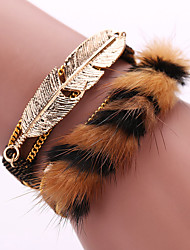 Fashion Multilayer Rhinestone Leather Tassel Bracelets Bangles Magnetic jewelry
