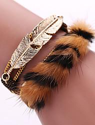 Bracelet Chaînes & Bracelets / Bracelets Wrap / Bracelets en cuir / Loom Bracelet Alliage / Cuir / Plume Forme GéométriqueGland / Mode /