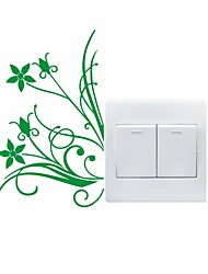 AYA™ DIY Wall Stickers Wall Decals, Landscape Plant Type PVC Switch Panel Stickers 10*17cm