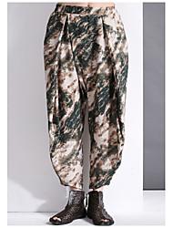 impressão harem pants verdes Yi shi mulheres dian, simples