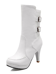 Women's Shoes   Heels / Fashion Boots Boots Outdoor / Office & Career / Casual Stiletto Heel OthersBlack &901-1