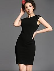Baoyan® Femme Col Arrondi Sans Manches Au dessus des genoux Robes-14170