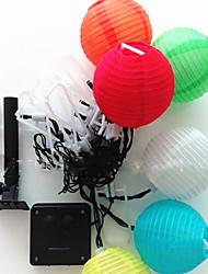 NO 5 M 20 Diodo LED Blanco cálido / Blanco / RGB / Rojo / Azul / Verde A Prueba de Agua 1.5 W Cuerdas de Luces AC100-240 V
