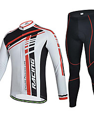 Sportif Vélo/Cyclisme Hauts/Tops / Bas Homme Manches courtes Respirable / Anti-transpiration Elasthanne Blanc S / M / L / XL / XXL / XXXL