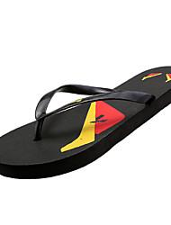 Damenschuhe-Slippers & Flip-Flops-Lässig-Gummi-Flacher Absatz-Flip - Flops / Flache Schuhe-Schwarz / Blau / Rot
