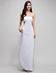 Formal Evening Dress Sheath / Column Strapless Ankle-length Satin with