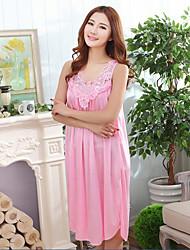 Women Polyester / Ice Silk Pajama