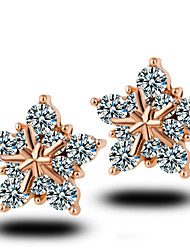 Hot Style Snowflakes Pentagram Stud Earrings