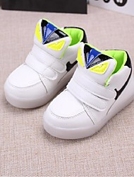 Boy's / Girl's Sneakers Spring / Fall Flats PU Outdoor Magic Tape Black / Yellow / Pink / White