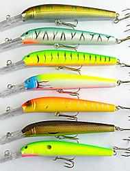 """7pcs pcs kleiner Fisch / Angelköder kleiner Fisch Verschiedene Farben 17g g/5/8 Unze mm/6"""" Zoll,Fester KunststoffSeefischerei / Fischen"""