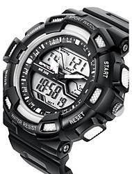 SANDA Мужской Спортивные часы электронные часы LCD Календарь Защита от влаги С двумя часовыми поясами тревога Светящийся Хронометр