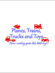 Transportation Wall Stickers Plane Wall Stickers Decorative ,vinyl Material Removable Home Decoration Wall Decal