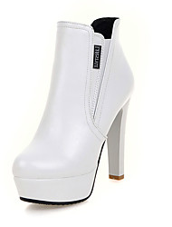 Women's Shoes Fashion Short Boot Ankle Boot / Round Toe Bootie Office & Career / Party & Evening / Dress