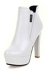Zapatos de mujer-Tacón Robusto-Punta Redonda / Botas a la Moda-Botas-Oficina y Trabajo / Vestido / Casual / Fiesta y Noche-Semicuero-