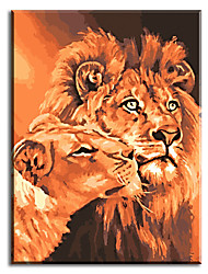 Hand Painted Oil Painting Lions King Home Decoration Unique Gifts Of with Stretched Frame Ready to Hang