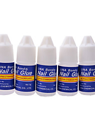 5PCS Nail Art Glue Fast Drying False Nail Tips Manicure Nail Tips Glue Tools