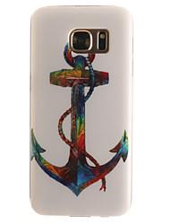 Pour Samsung Galaxy S7 Edge Motif Coque Coque Arrière Coque Ancre Flexible PUT pour SamsungS7 edge S7 S6 edge S6 S5 Mini S5 S4 Mini S4 S3
