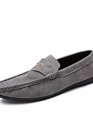 Fashion Trend Men's Soft Suede Driving Shoes for Casual Non-slip Soles Man's Slip-on Loafers in the Four Seasons