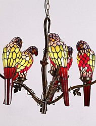 Parrot Chandelier,Tiffany Style with 5 Lights