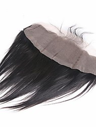 Cheap Indian human Hair Natural Straight Lace Frontal 13*4 hair piece