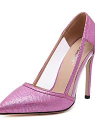Women's Heels Summer PU Casual Stiletto Heel Others Silver Fuchsia