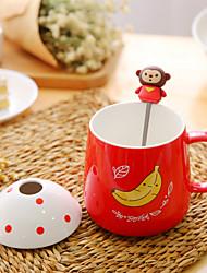 1pc copo de café 350ml copo de cerâmica autêntica copo creativo marca de chá de leite de vidro cor aleatória