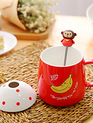 1Pc 350Ml Ceramic Cup Authentic Creative Mark Cup Tea Milk Glass Coffee Cup Random Color