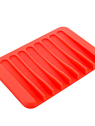 (Color random)1Pc Anti Slip Water Bathroom Silicone Soap Box Cleaning Sponge Dry Storage Holder Plate Drain