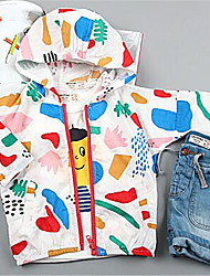 Casual/Dagelijks-Patchwork-Katoen-Zomer-Girl's-Kostuum & Blazer-Groen / Rood