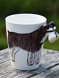 1шт 400мл 3d мультфильм животных ручная роспись керамическая чашка кофе молоко кружка случайный цвет