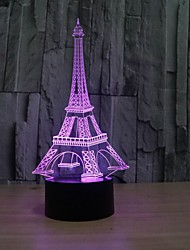 la tour eiffel 3 d table illusion décoration lampe led comme un cadeau