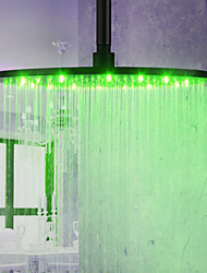 monochrome LED-Duschkopf Top-Spray-Spritzdüse (monochrom) (16 Zoll)