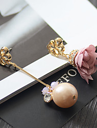 Women's Stud Earrings Fashion Pearl Alloy Flower Jewelry For Daily Casual