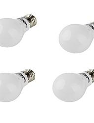 5W E26/E27 Ampoules Globe LED A60(A19) 10 SMD 5730 420 lm Blanc Chaud Décorative AC 85-265 AC 100-240 AC 110-130 V 4 pièces