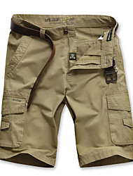 Men's Solid Casual Chinos,Cotton Multi-color