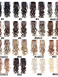 Fashion Women's Ponytail Hairpieces 50cm 22inch 100g Synthetic Hair Extensions Drawstring Long curly 16 Colors