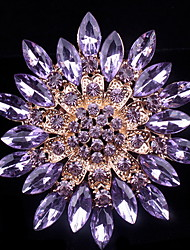 полный кристалл броши