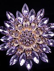broche de cristal cheio